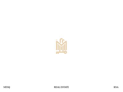 MESQ for real estate gold design identity branding mark key eagle bird minmal logos logo realestate