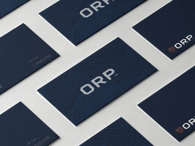 Topo map Business Cards