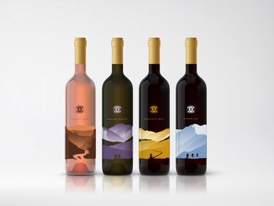 Mountain Range Wine Label Design