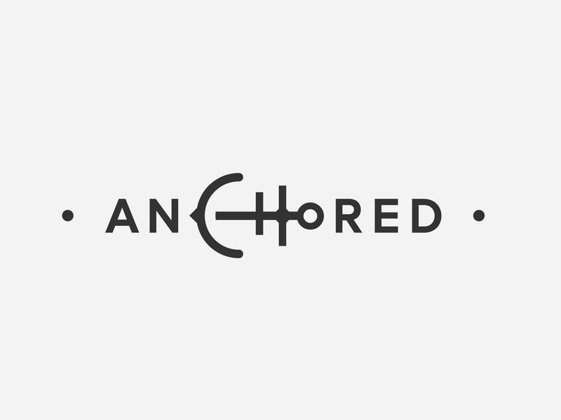 Anchored Logo anchored anchor illustration type icon vector logo design branding