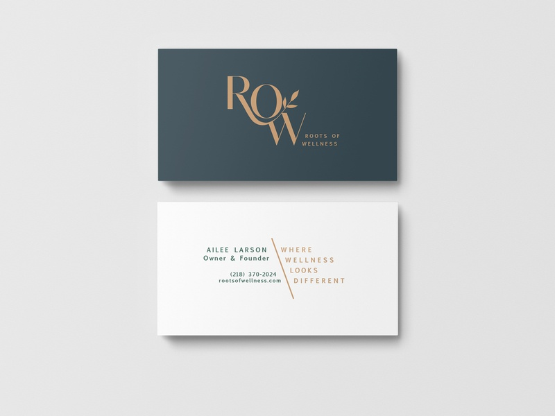 ROW Business Cards typography business cards vector logo design branding