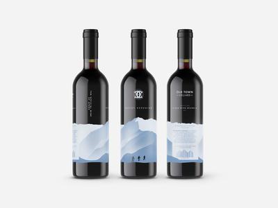 Screen Printed Wine Bottles