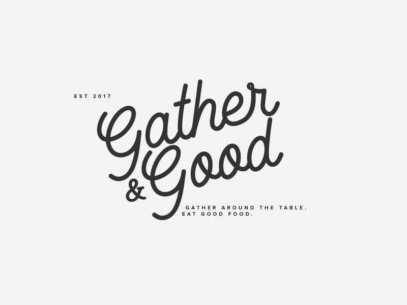 Gather & Good g type vector logo branding design