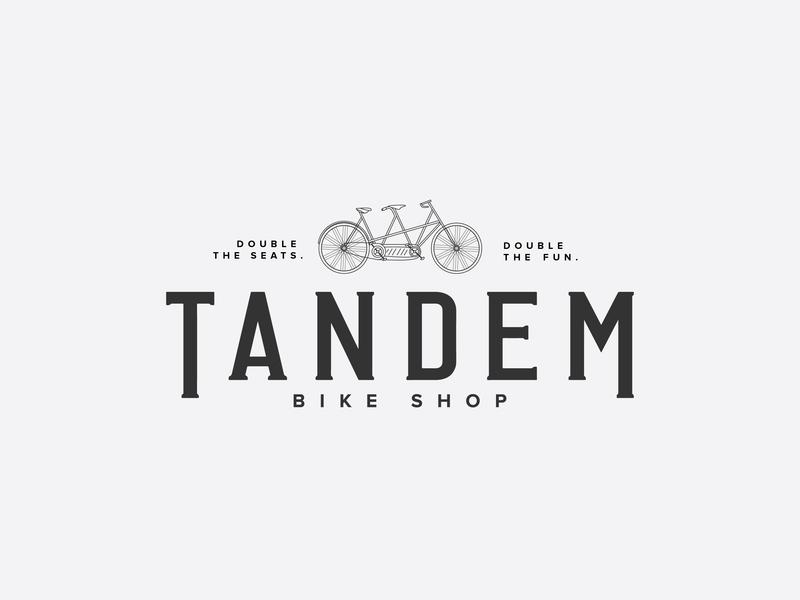 Bike Shop Logo biking bike ride tandem bike bike logo bike shop bike illustration type icon vector logo branding design