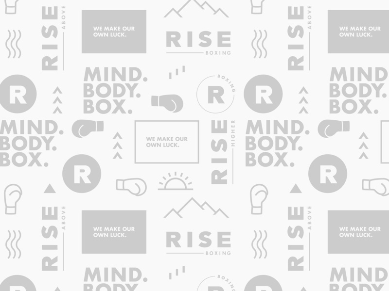 Rise Pattern Design boxing gym boxing illustration type icon vector logo branding design