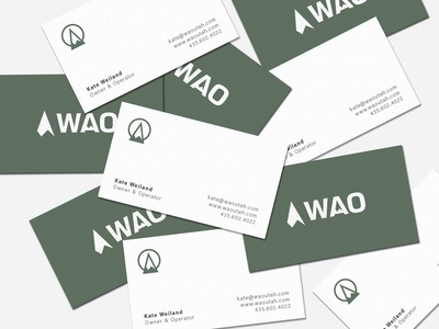 Outdoor Brand Business Cards