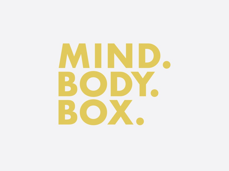 Mind Body Box box body mind tagline design boxing gym boxing type vector branding design