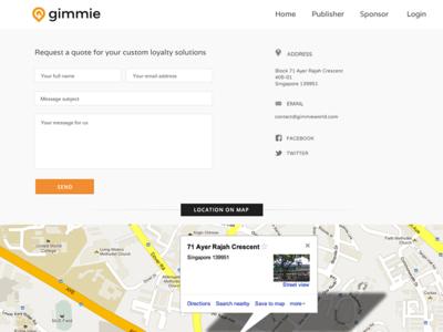 Gimmie Website