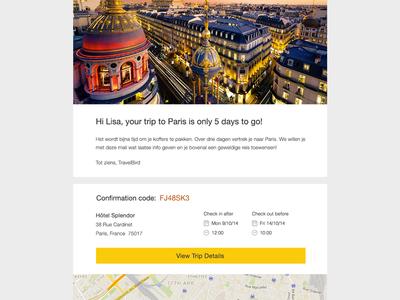 Newsletter design ui web ux minimal newsletter email travel clean flat responsive travelbird startup