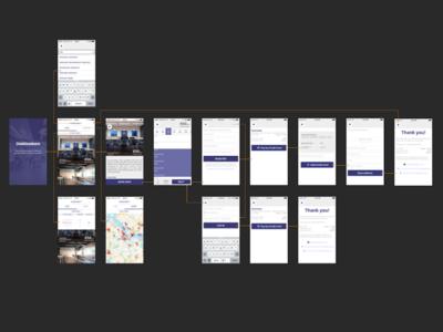 Deskbookers iOS app flow