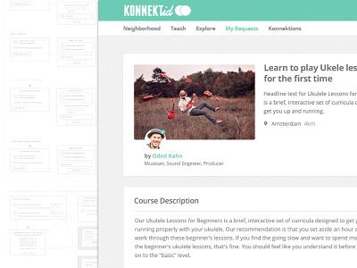 Konnektid UX sketch learn teach education interface wireframes ui amsterdam design flow web ux