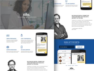 Siilo responsive website UI