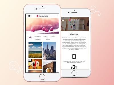 Summer—Creative, Portfolio HTML Theme user experience responsive mobile ux ui design creative portfolio fresh template theme html