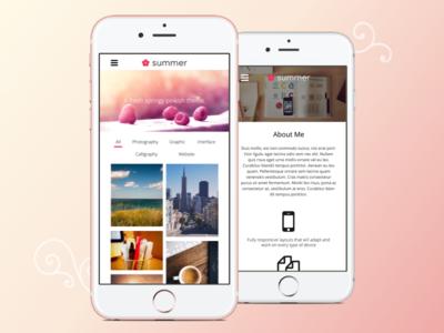 Summer—Creative, Portfolio HTML Theme