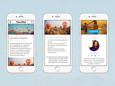 TravelBird Blog — Mobile Web mobile web user experience responsive ux ui travelbird travel ios mobile interface blog clean