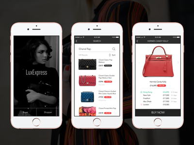 LuxExpress—Uber for Airport Luxury Duty Free travel user experience premium clean interface ui ux marketplace ecommerce mobile highend luxury
