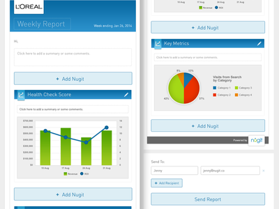 Nugit CMS Report Builder UX UI Design user experience dashboard report interface ui ux flat analytics clean nugit data cms
