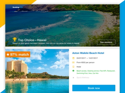 Booking.com Group Booking Tool list search results user experience ui ux web accommodation hotel ecommerce booking travel