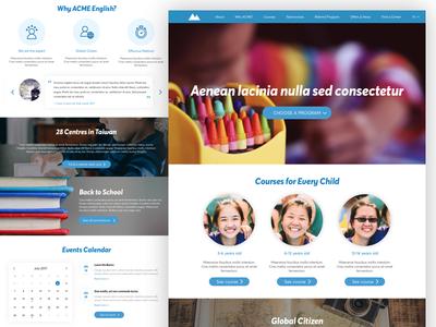 UX & Visual Design for English School Marketing Website user experience ui clean minimal student school education edtech ux website responsive