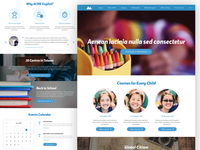 UX & Visual Design for English School Marketing Website
