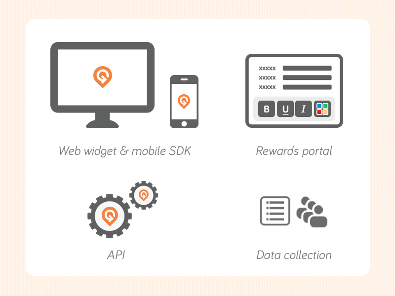 Gimmie Products gimmie rewards loyalty icons minimal flat ui graphic marketing products
