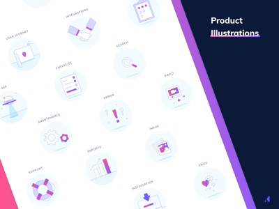 Product illustrations illustration graphicdesign gradient illustrations appcues figma