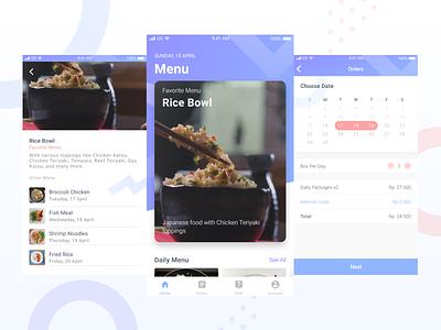 Exploring - Catering App menu home booking food mobile catering ios clean app