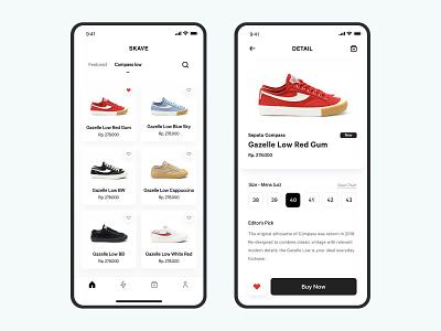 #Exploration - Sneakers Shop ecommerce brand fashion concept iphone x ui shop detail mobile minimalist shoes ios app sneaker