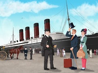 Boarding the RMS Lusitania