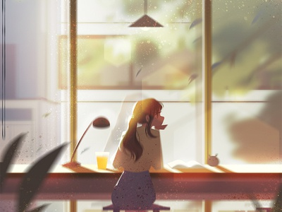 Study Room visual development concept art environment character digital art photoshop illustration
