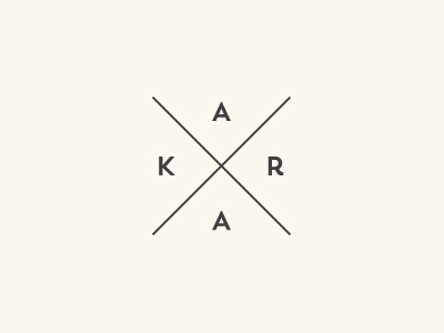 Kara Mark kara logo logo mark watermark photographer photography modern simple lines photography logo