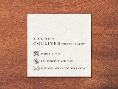 Lauren Colliver Photography - Card photography logo whimsical fox child illustration storybook phone compass letter mail business card