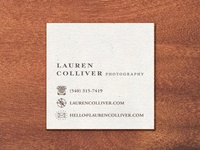 Lauren Colliver Photography - Card