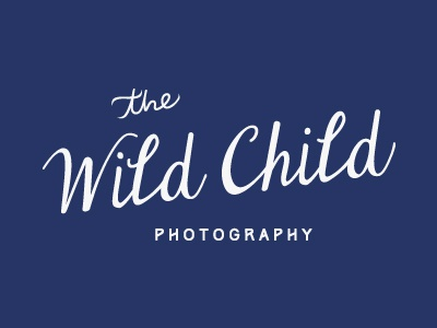 The Wild Child Photography Type photography logo logo photography photographer child wild child script enchanting whimsical blue flowy