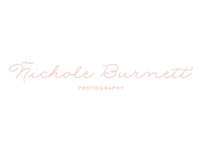 Nichole Burnett Photography Logo photography logo photographer script whimsical wave crown pink