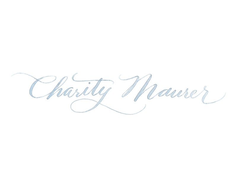 Charity Maurer Photography Logo photography logo photographer photography watercolor calligraphy hand lettered
