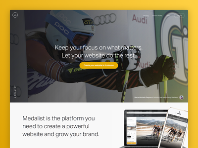 Work from 2014: Medalist product web