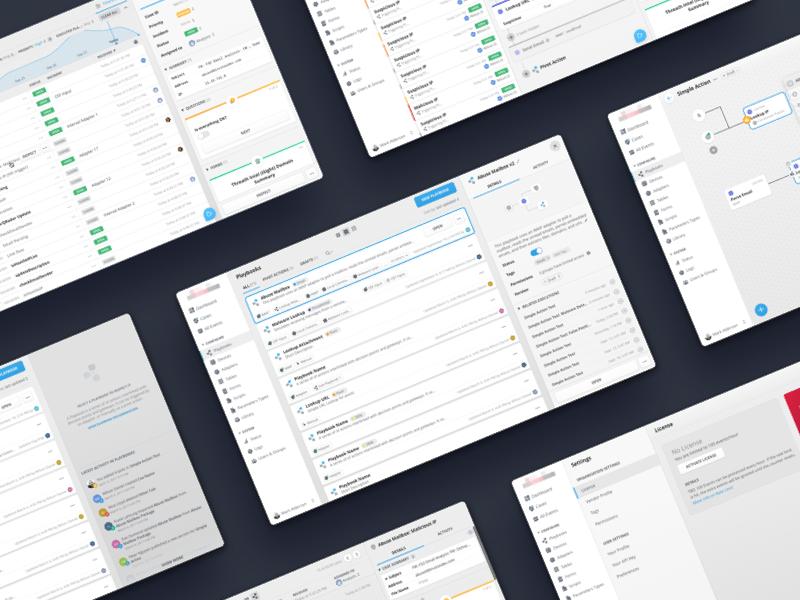 Cybersecurity Orchestration App cybersecurity layout  master detail desktop app web app ux ui