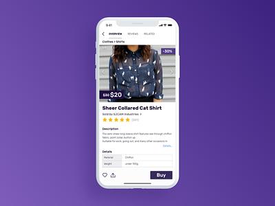Outlet Mobile App iphone x product page mobile app e-commerce product design uiux