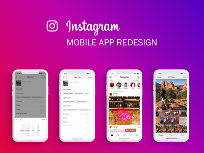 Instagram Case Study instagram redesign instagram iphone x mobile app design exercise product design exercise product design uiux
