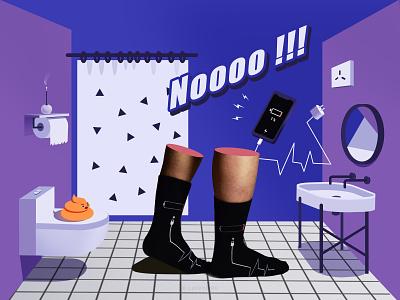 Sock & Mephis mephis socks design illustration ai