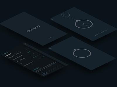DueNorth° - Simple Compass App interface minimal design ios compass app north app co
