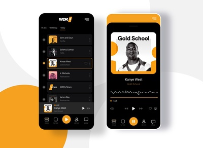 WDR Live Germany - Radio App UI/UX