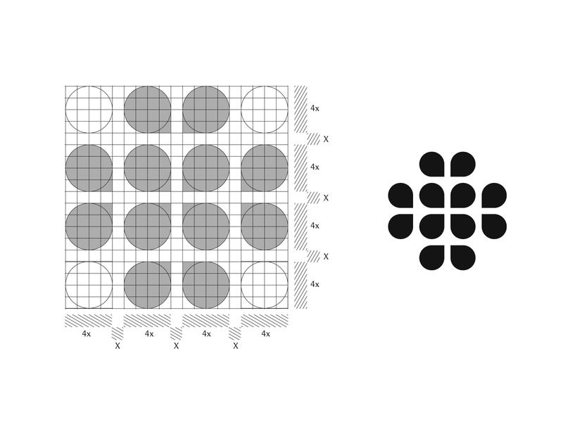Sri Sahasra Flower logo - Grid artist decoration decore florals elegant geometry vector logotype typography logo designer modern logo minimalist logo design logo grid grid logo design art floral flower