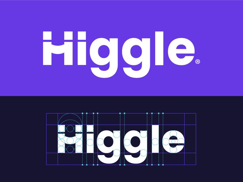Higgle wordmark handshake hey hi hello corporate identity vector logotype typography grid logo logo designer modern logo logo minimalist wordmark logo mark lettermark wordmark