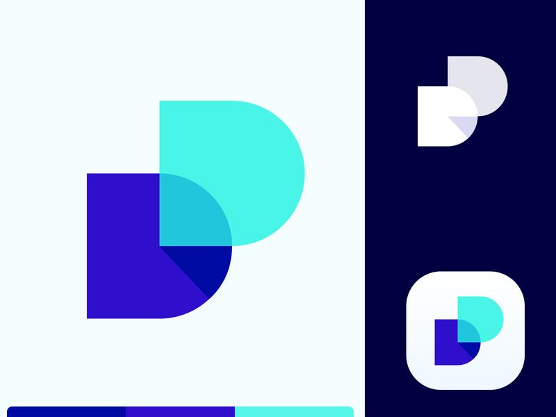 Dd logo design - dossier 2.0 dd logo logo grid blue app icon app dd letter d mark icon symbol shadow word document office doc d grid logotype grid logo modern logo logo design logo