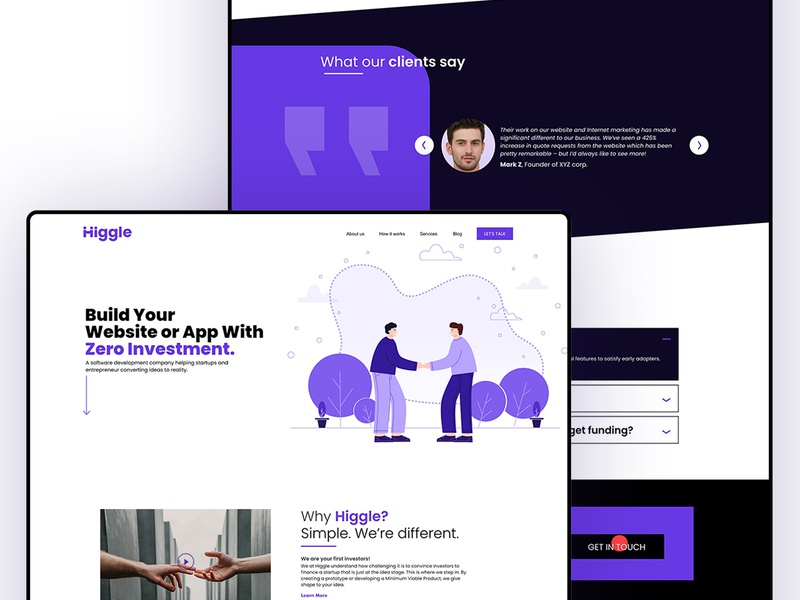 Higgle website design typography white illustraion agency studio website animation homepage user interface product ui startup interaction fintech landing page ux ui design landing page design web app web web design website landing