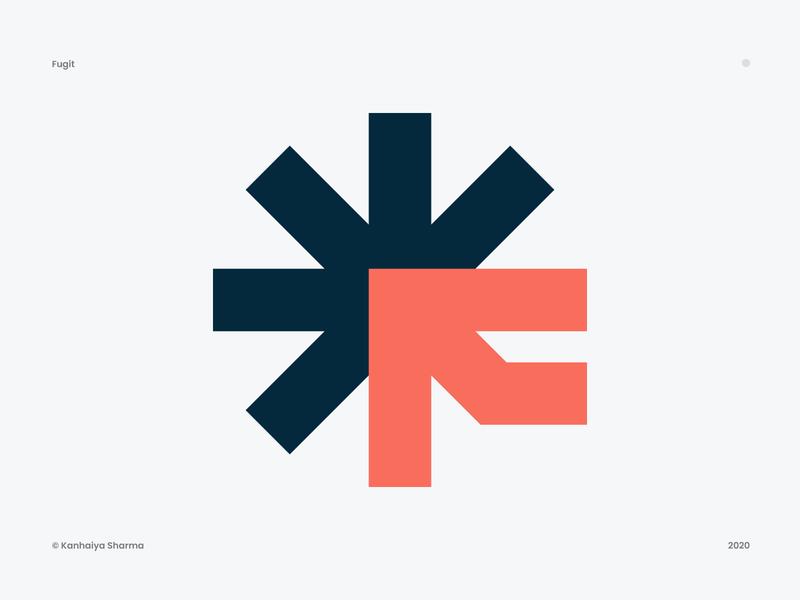 Asterisk + F -  Fugit Logo design asterisk star startup connections commercial connection connect connector community asterisk logo f logo blue symbol fugit logo grid logo design logo designer modern logo logo design vector symbol icon mark group logo