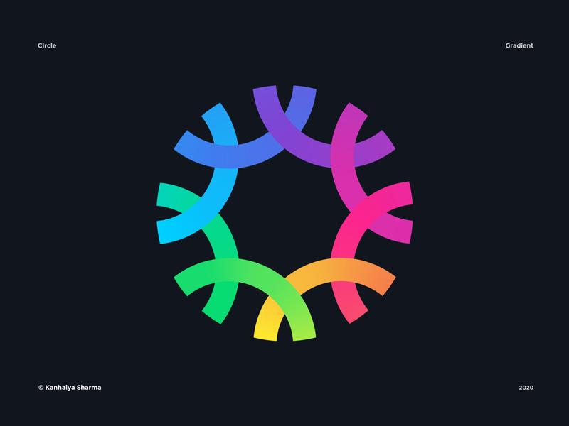 Circle logo circle logo abstract design geometric design geometry circle circles colors colorful logo colorfull gradients gradient color vector symbol mark icon logos grid grid logo logo designer modern logo minimalist logo design logo