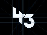 Logo grid 43 vector symbol icon mark 4 number 43 typography art typo logotype minimalist modern logo logo designer logo modernism grid layout logo grid grid design designer graphic design grid logo logo design logo